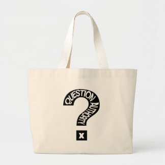 Question Authority Jumbo Tote Bag