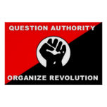 Question Authority Organise Revolution poster