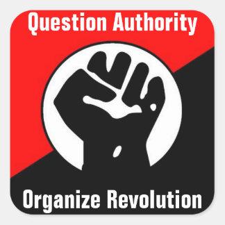 question authority organize revolution sticker