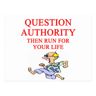 question authority post cards