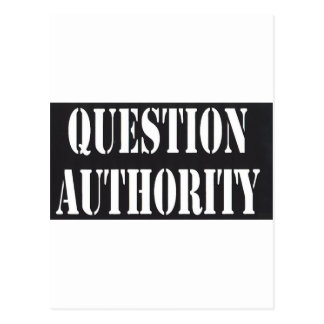 Question Authority Postcards