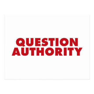Question Authority - Red Postcards