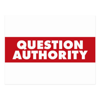 Question Authority - Red! Postcard