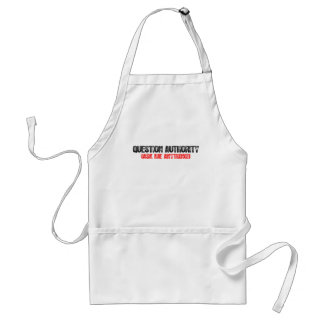 Question Authority Standard Apron