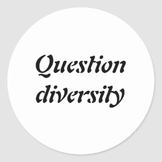 Question Diversity - Sticker