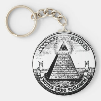 Question Illuminati New World Order Key Ring