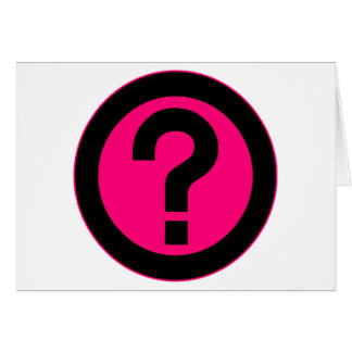 Question Mark Ask Query Symbol Punctuation Greeting Card