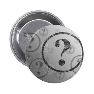 Question Mark Background BW 6 Cm Round Badge