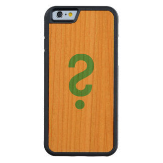 Question mark carved cherry iPhone 6 bumper case