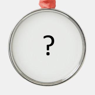 Question Mark Ornament