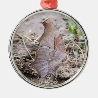 Question Mark Round Metal Christmas Ornament
