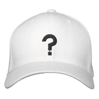 ? Question Mark Embroidered Symbol on Hat Embroidered Baseball Cap