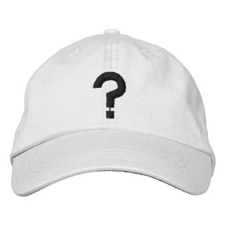 ? Question Mark Embroidered Symbol on Hat Embroidered Baseball Caps