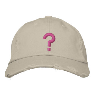 ? Question Mark Embroidered Symbol on Hat Embroidered Hat
