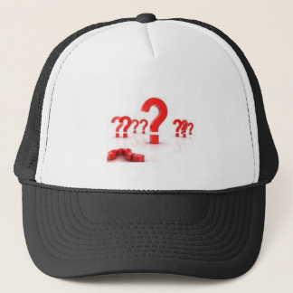 Question mark help trucker hat