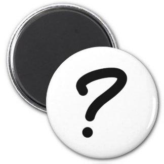 Question Mark Fridge Magnet