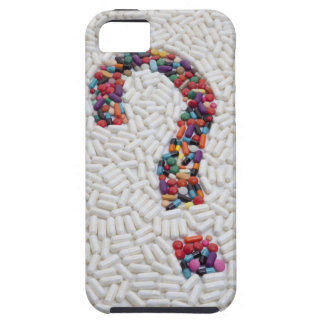 Question mark of pills on white pill background case for the iPhone 5