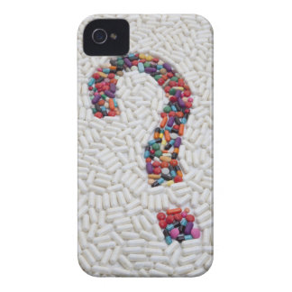 Question mark of pills on white pill background iPhone 4 Case-Mate case