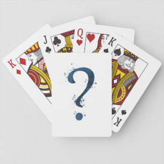Question mark playing cards