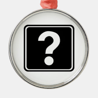 Question Mark Sign Christmas Ornaments