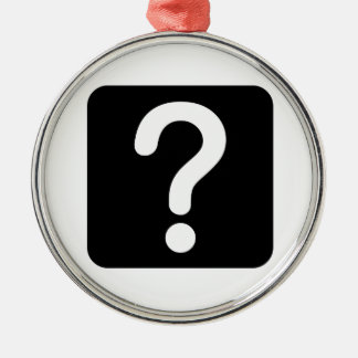 Question Mark Sign Christmas Tree Ornaments