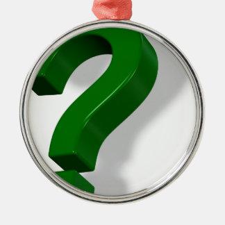question mark symbol ornaments