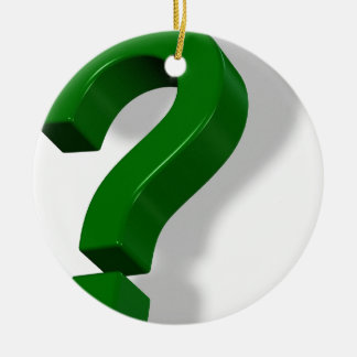 question mark symbol christmas tree ornament