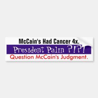 Question McCain's Judgment #1 Bumper Sticker