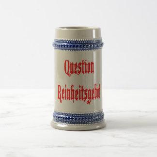 Question Reinheitsgebot? Beer Blasphemy! Beer Stein