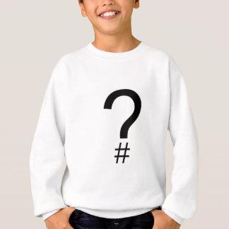 Question Tag/Hash Mark Sweatshirt