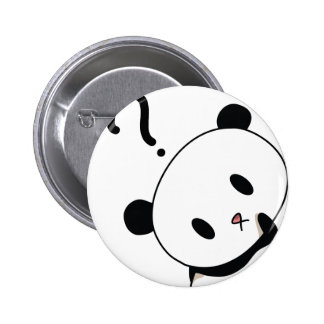 question time panda 6 cm round badge