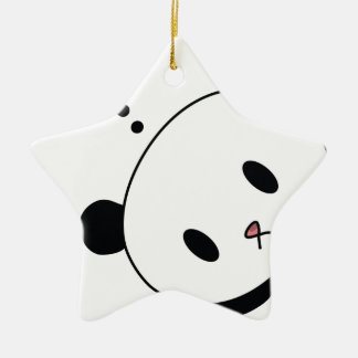 question time panda ceramic star decoration