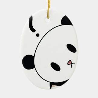 question time panda christmas ornament