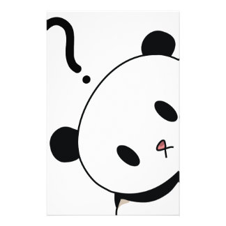 question time panda custom stationery