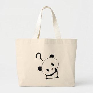 question time panda large tote bag
