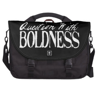 Question With Boldness Laptop Bags
