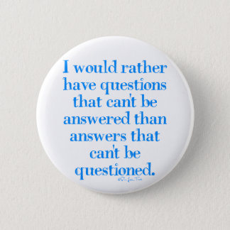 Questions and Answers 6 Cm Round Badge