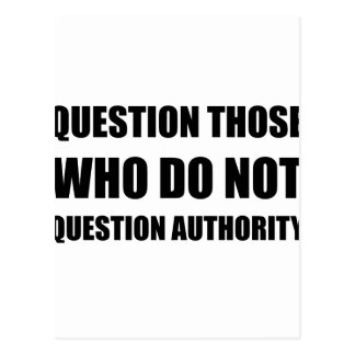 Questions Authority Postcard