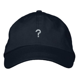 questions hat embroidered cap