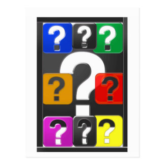 QUESTIONS Symbol Cards,Magnet,Button,KeyChain GIFT Postcard