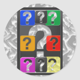 QUESTIONS Symbol Cards,Magnet,Button,KeyChain GIFT Round Stickers
