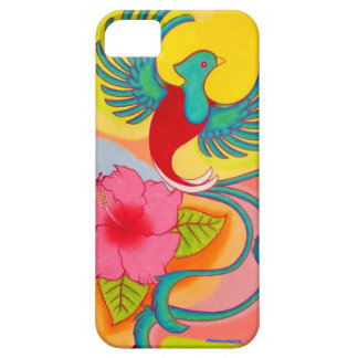 Quetzal Bird And Hibiscus Case For The iPhone 5