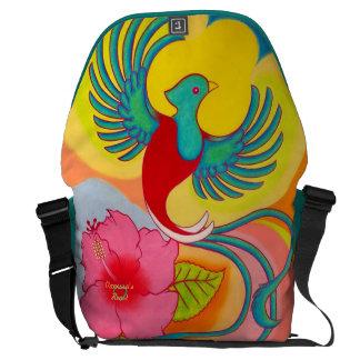Quetzal Bird and Hibiscus Commuter Bag
