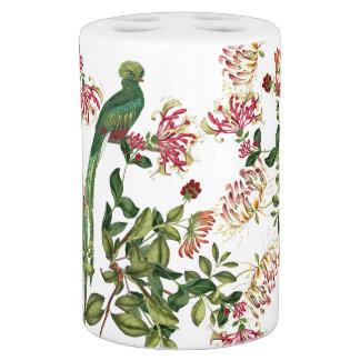 Quetzal Bird Honeysuckle Flowers Bath Set