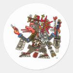 Quetzalcoatl Round Stickers
