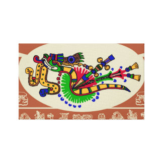 Quetzalcoatl. Tribal Aztec Canvas Print