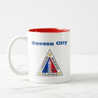 Quezon City*, Philippines Mug Two-Tone Mug