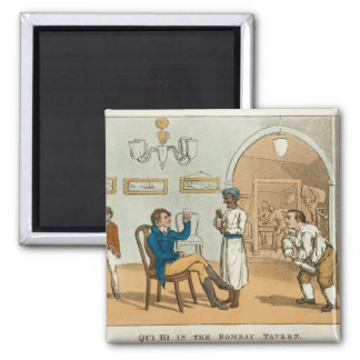 Qui Hi in the Bombay Tavern, from 'The Grand Maste Square Magnet