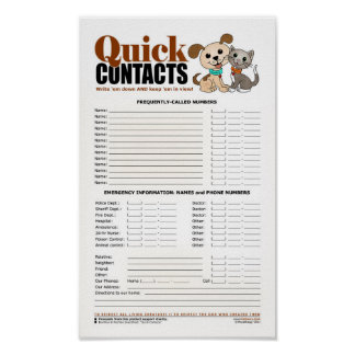 Quick Contacts (Bowwow and MeeYow) Poster