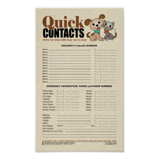 Quick Contacts (Little Lamb) Poster